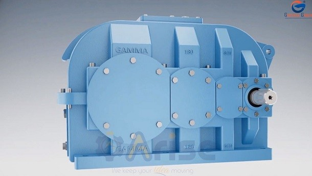 Technical Animation of Helical Gearbox